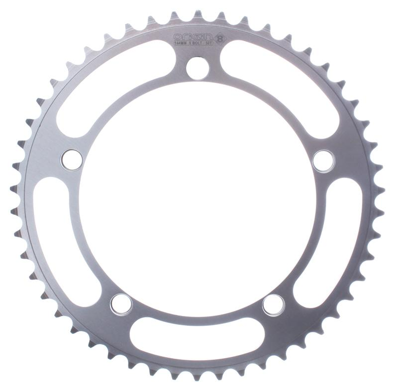 Origin-8 Classic Track Alloy Chainring 46T Silver 144bcd Fixed Gear Bike