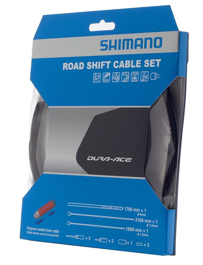 Shimano Dura Ace Polymer Shift Cable and Housing Set Gray NEW