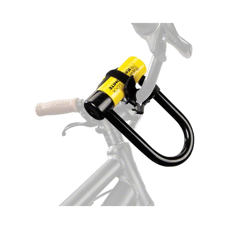kryptonite transit h bar carrier bike handlebar mounted u lock holder bracket ebay. Black Bedroom Furniture Sets. Home Design Ideas